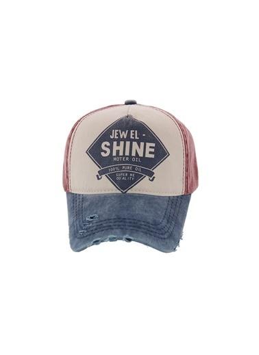 Laslusa Jewel Shine Beyzbol Cap Şapka Bordo